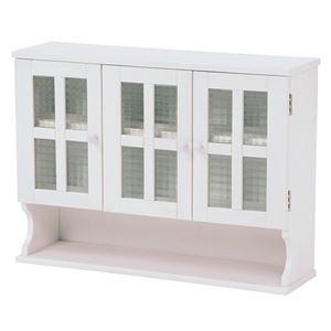 その他 調味料ラック(キッチン収納/スパイスラック) 幅68cm ホワイト(白) 木製 扉付き 収納棚高さ調節可 カントリー調 ds-1629292