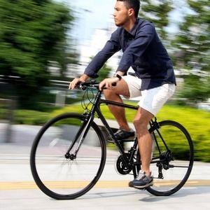 その他 クロスバイク 700c(約28インチ)/ブラック(黒) シマノ21段変速 アルミフレーム 軽量 重さ11.2kg 【VENUS】 ビーナス CAC-021 ds-1634425
