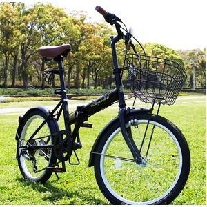 その他 折りたたみ自転車 20インチ/ブラック(黒) シマノ6段変速 【Raychell】 レイチェルFB-206R ds-1634437
