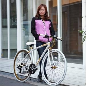 その他 クロスバイク 700c(約28インチ)/ホワイト(白) シマノ7段変速 重さ/ 12.0kg 軽量 アルミフレーム 【LIG MOVE】 ds-1634466