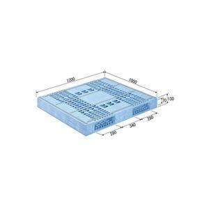その他 三甲(サンコー) プラスチックパレット/プラパレ 【両面使用型】 冷凍倉庫用パレット 段積み可 R2-1012F-2 ライトブルー(青)【代引不可】 ds-1647404