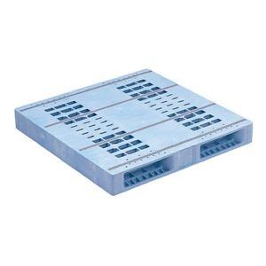 その他 三甲(サンコー) プラスチックパレット/プラパレ 【両面使用型】 段積み可 R2-1111F-5 PP ライトブルー(青)【代引不可】 ds-1647436