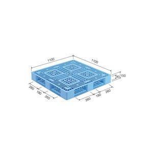 その他 三甲(サンコー) プラスチックパレット/プラパレ 【片面使用型】 D4-1111-5 ライトブルー(青)【代引不可】 ds-1647438