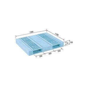 その他 三甲(サンコー) プラスチックパレット/プラパレ 【両面使用型】 段積み可 R2-1113F-3 PP ライトブルー(青)【代引不可】 ds-1647486