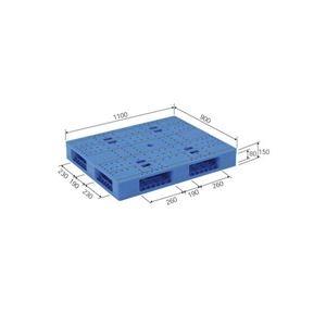 その他 三甲(サンコー) プラスチックパレット/プラパレ 【両面使用タイプ】 軽量 LX-911R4 ブルー(青)【代引不可】 ds-1647543