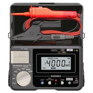 その他 日置電機 PV専用レンジ付5レンジデジタル絶縁抵抗計IR4053-11 ds-1656374