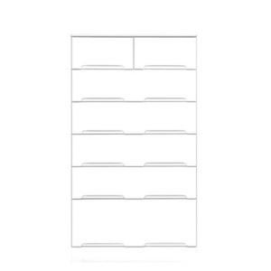 その他 ハイチェスト 6段 【幅70cm】 スライドレール付き引き出し 日本製 ホワイト(白) 【完成品 開梱設置】 ds-1645389