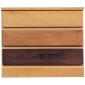 その他 3段チェスト/リビングチェスト 【幅60cm】 木製(天然木) 日本製 ナチュラル 【LOVE】ラブ 【完成品 開梱設置】【代引不可】 ds-1645705