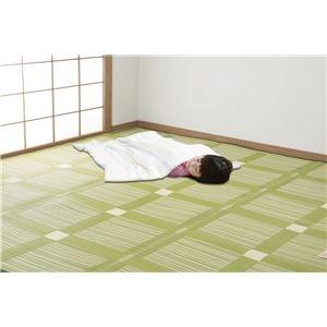 その他 日本アトピー協会推薦カーペットグリーン本間8畳 382×382cm【代引不可】 ds-1671718