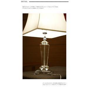 その他 テーブルランプ(照明器具/卓上ライト) クリスタル使用 スクエア型 〔リビング照明/寝室照明/ダイニング照明〕【電球別売】 ds-1677248