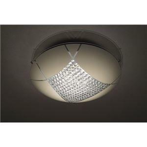 その他 シーリングライト(照明器具) LEDタイプ/18W 自然光色 ガラス使用 円形 〔リビング照明/ダイニング照明〕【電球付き】【代引不可】 ds-1677258