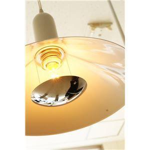 その他 ペンダントライト(吊り下げ型照明器具) 円錐型 アルミ製 レトロ調 ホワイト(白) 〔リビング照明/ダイニング照明〕【電球別売】【代引不可】 ds-1677326