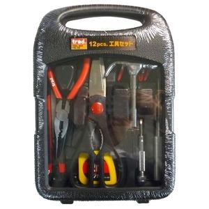 その他 (業務用20セット)TRAD 工具セット/作業工具 【12個入】 TS-12 〔業務用/家庭用/DIY/日曜大工〕 ds-1702550