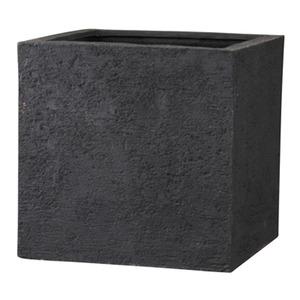 その他 樹脂製 植木鉢/プランター 【ブラック 幅40cm】 底穴あり 新素材ポリストーンライト使用 『リガンデ キューブ』 ds-1703085