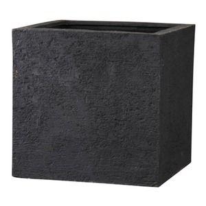 その他 樹脂製 植木鉢/プランター 【ブラック 60cm】 底穴あり 新素材ポリストーンライト使用 『リガンデ キューブ』 ds-1703091