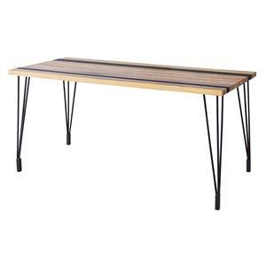 その他 ダイニングテーブル(天然木/アイアン) LEIGHTON(レイトン) ナチュラルミックス NW-114NA ds-1705232