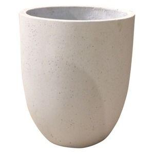 その他 軽量コンクリート製 植木鉢/プランター 【ホワイト 直径43cm】 底穴あり 『フォリオ アルトエッグ』 ds-1705286