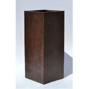 その他 木目調樹脂製鉢カバー MOKU クアドラ H100cm ds-1706481