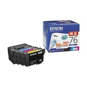 その他 エプソン ビジネスインクジェット用 大容量インクカートリッジ/4色パック IC4CL76 ds-1708494