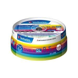その他 三菱化学メディア DVD-R DL 8.5GB PCデータ用 8倍速対応 25枚スピンドルケース入りワイド印刷可能 DHR85HP25V1 ds-1710100