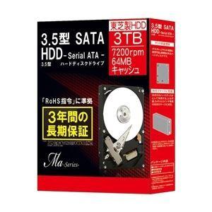 その他 東芝(HDD) 3.5インチ内蔵HDD Ma Series 3TB 7200rpm 64MBバッファSATA600 DT01ACA300BOX ds-1711532