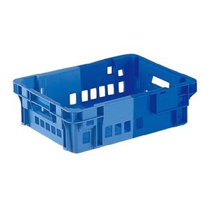 その他 (業務用10個セット)三甲(サンコー) SNコンテナ/2色コンテナボックス 【Cタイプ】 #11CP ブルー×ライトブルー 【代引不可】 ds-1718313