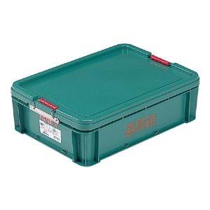 その他 (業務用10個セット) 三甲(サンコー) 左官用道具箱/ツールボックス 【中】 グリーン(緑) 【代引不可】 ds-1718816