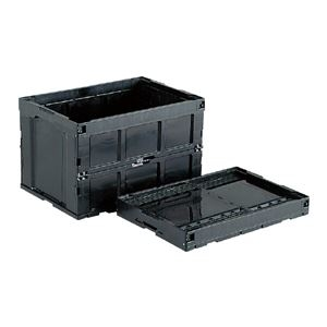 その他 (業務用5個セット)三甲(サンコー) 折りたたみコンテナボックス/オリコン 【96L】 導電 95B-S【2】 ブラック(黒) 【代引不可】 ds-1719043