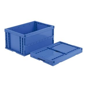 その他 (業務用5個セット)三甲(サンコー) 折りたたみコンテナボックス/オリコン 【74L】 プラスチック製 P75B-B ブルー(青) 【代引不可】 ds-1719056