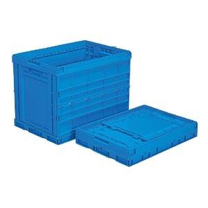 その他 (業務用5個セット)三甲(サンコー) 折りたたみコンテナボックス/オリコン 【124L】 プラスチック製 P124B ブルー(青) 【代引不可】 ds-1719067