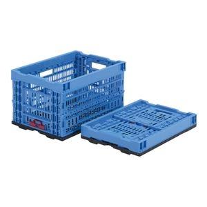 その他 (業務用5個セット)三甲(サンコー) 折りたたみコンテナボックス/オリコン 【47L】 プラスチック製 P48A ブルー(青) 【代引不可】 ds-1719069