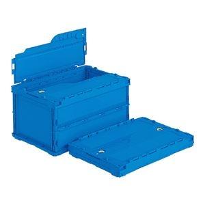 その他 (業務用5個セット)三甲(サンコー) 折りたたみコンテナボックス(ペタンコ/サンクレットオリコン) C-40B ブルー(青) 【代引不可】 ds-1719126