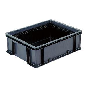 その他 (業務用5個セット)三甲(サンコー) 導電性コンテナボックス/テンバコ 【41.9L】 段積み可 ED-42M ブラック(黒) 【代引不可】 ds-1719193