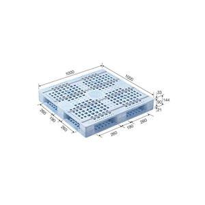 その他 (まとめ)三甲(サンコー) プラスチックパレット/プラパレ 【片面使用型】 軽量 D4-1010F (PE)ライトブルー(青) 【×2セット】【代引不可】 ds-1719436
