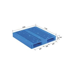 その他 (業務用2個セット)三甲(サンコー) プラスチックパレット/プラパレ 【両面使用型】 段積み可 R2-1011 ブルー(青) 【代引不可】 ds-1719446