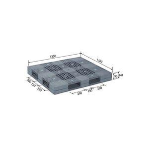 その他 (業務用2個セット)三甲(サンコー) プラスチックパレット/プラパレ 【両面使用型】 段積み可 R4-1113 グレー(灰) 【代引不可】 ds-1719522