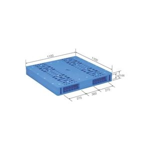 その他 (まとめ)三甲(サンコー) プラスチックパレット/プラパレ 【両面使用タイプ】 軽量 LX-1111R2-6 ブルー(青) 【×2セット】【代引不可】 ds-1719621