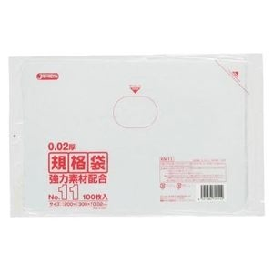 その他 規格袋 11号100枚入02LLD+メタロセン透明 KN11 (100袋×5ケース)500袋セット 38-423 ds-1722393