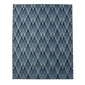 その他 エジプト製 ウィルトン織り カーペット 絨毯 『オルメ RUG』 ブルー 約133×190cm ds-1725490