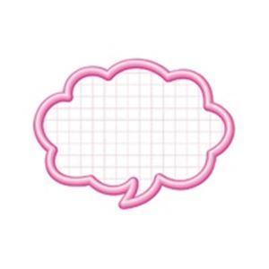 その他 (業務用100セット) タカ印 抜型カード 16-4112 吹出中 ピンク 50枚 ds-1738954