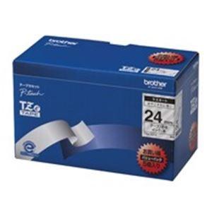 その他 (業務用5セット) brother ブラザー工業 文字テープ/ラベルプリンター用テープ 【幅:24mm】 5個入り TZe-151V 透明に黒文字 ds-1739895