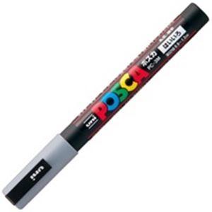 その他 (業務用200セット) 三菱鉛筆 ポスカ/POP用マーカー 【細字/灰】 水性インク PC-3M.37 ds-1740189