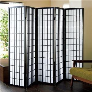 その他 障子風スクリーン(パーテーション/衝立) 5連 高さ150cm 枠:木製 張地:不織布 ds-1726374