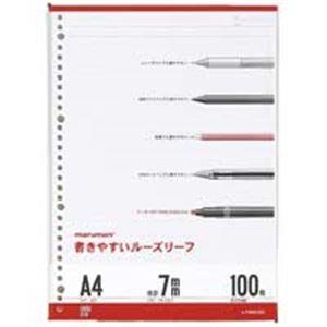 その他 (業務用100セット) マルマン ルーズリーフ L1100H A4 7mm罫 ds-1740581