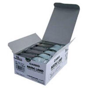 その他 (業務用5セット) カシオ計算機(CASIO) テープ XR-18X-5P-E 透明に黒文字 18mm 5個 ds-1741879