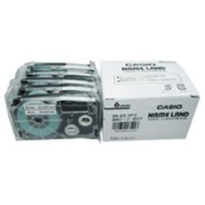 その他 (業務用5セット) カシオ計算機(CASIO) テープ XR-6X-5P-E 透明に黒文字 6mm 5個 ds-1746703