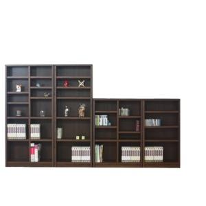 その他 本棚/ブックシェルフ 【幅70cm】 高さ120cm 可動棚板2枚付き 木目調 日本製 ブラウン 【完成品】 ds-1747577