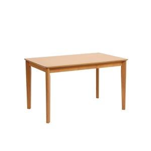 その他 ダイニングテーブル/リビングテーブル 【長方形 幅135cm】 木製 アッシュ突板  ナチュラル ds-1748412