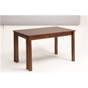 その他 伸長式ダイニングテーブル/エクステンションテーブル 【幅120~200cm】 レトロ調  木製 インナーキャスター仕様 ds-1748417