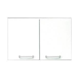 その他 上置き(ダイニングボード/レンジボード用戸棚) 幅80cm 可動棚付き 日本製 ホワイト(白) 【完成品】 ds-1752684